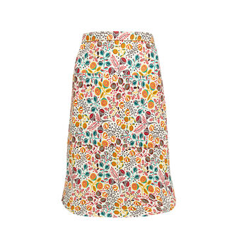 Microfruits waist apron in 100% cotton
