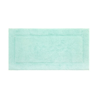 Cotton bath mat with square