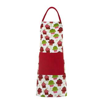 Bib apron with Cupcakes print