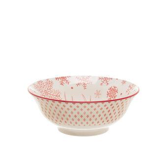 Coppa in ceramica renna e fiocchi di neve