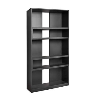 Extendible wooden bookcase with lacquer finish