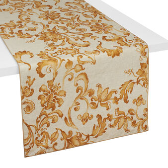 100% linen table runner with soft hand and George print