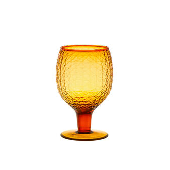 Coloured glass goblet