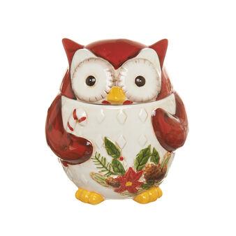 Owl-shaped ceramic biscuit barrel