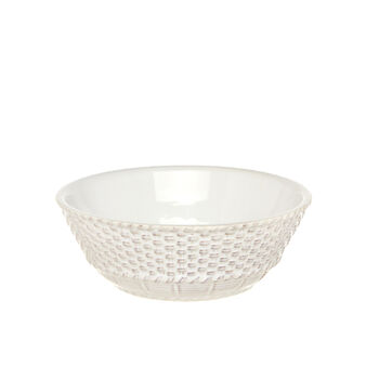 Isabel distressed ceramic dessert bowl.
