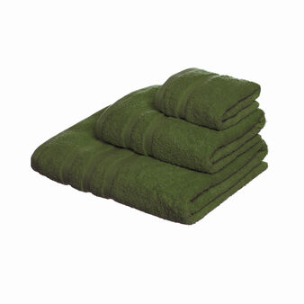 Set of plain towels