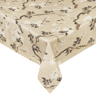 Peach tree 100% linen tablecloth with soft hand