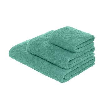 Asciugamano in cotone jacquard a rilievo