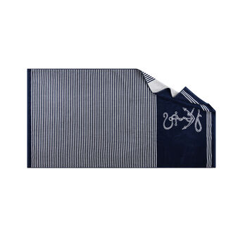Yarn-dyed nautical style beach towel in 100% cotton