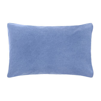 Denim-effect cotton pillowcase