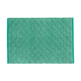 Bath mat in popcorn-effect cotton