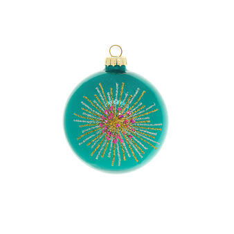 Peacock-coloured glass bauble D 8cm