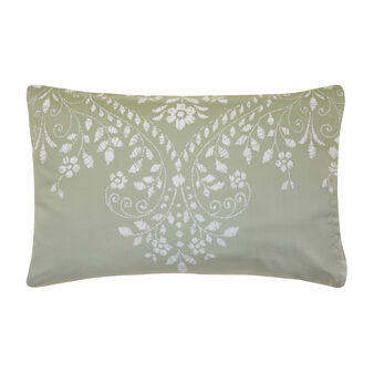 Cotton satin pillowcase with damask pattern