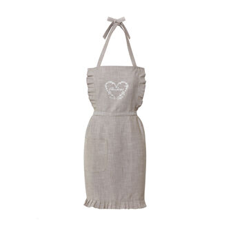 Cotton mélange apron