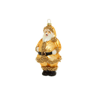 Father Christmas decoration in glass H 13cm