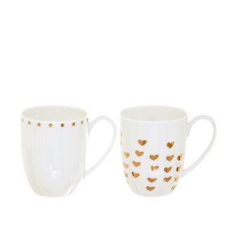 Set of 2 mugs in porcelain