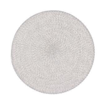Round table mat in plastic