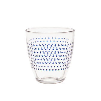 Polka dot glass water tumbler