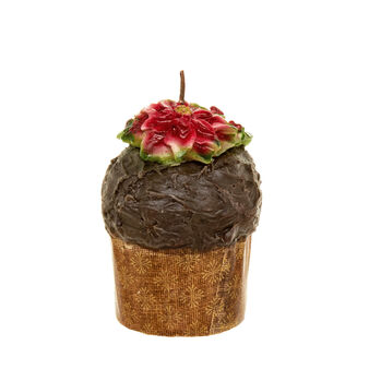 Panettone mini candle with chocolate