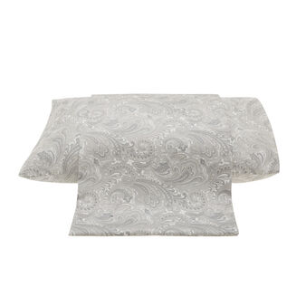 Paisley patterned duvet cover in cotton satin