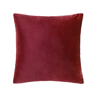 Cushion in two shades of velvet