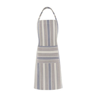 Net bib apron with jacquard weave
