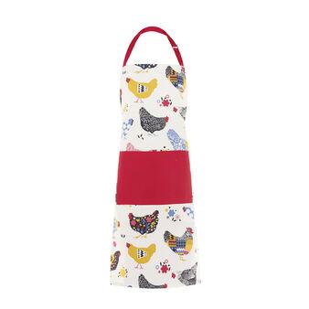 Multi-coloured Gipsy Hen bib apron
