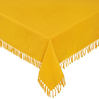 Solid colour 100% cotton tablecloth