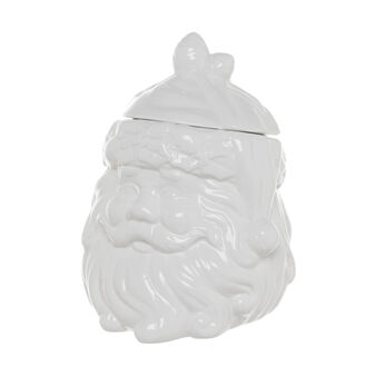 Father Christmas face ceramic biscuit barrel