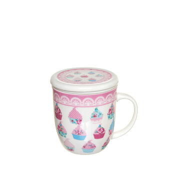 New bone china infuser cup with decorations