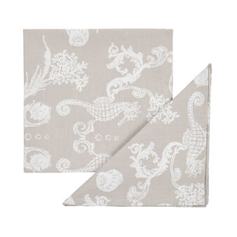4-pack napkins in 100% cotton with marine print