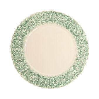 Hand-made ceramic serving plate