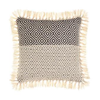 Ethnic jacquard cushion in 100% cotton