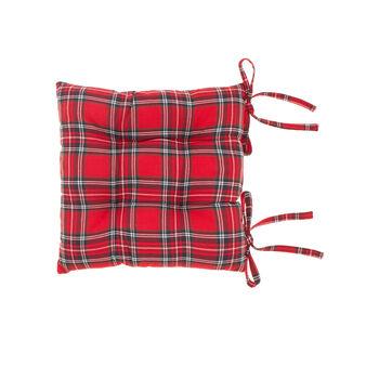 Cuscino sedia tinto in filo tartan scozzese