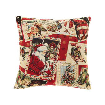Gobelin cushion with Christmas cards pattern