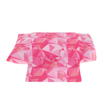 Percale flat sheet with origami print