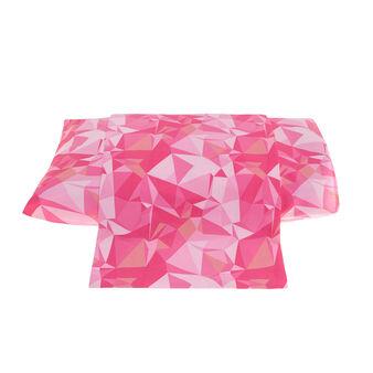 Lenzuolo liscio in percalle con stampa origami