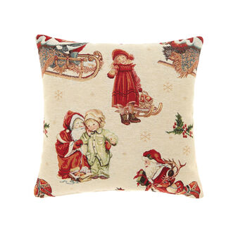 Gobelin cushion with Father Christmas pattern