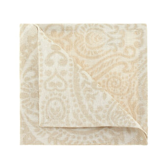 Antoine napkin in linen and cotton jacquard