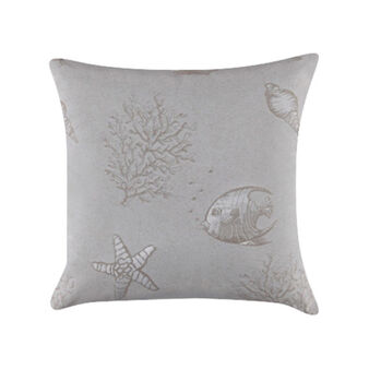 100% cotton jacquard cushion with marine pattern