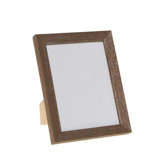 Portafoto legno finitura argentata