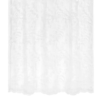 Lace curtain with foliage embroidery