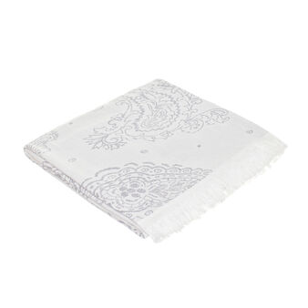 100% cotton paisley throw