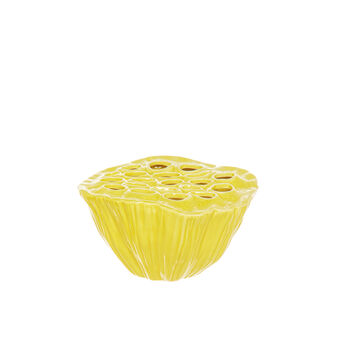 Glossy ceramic lotus