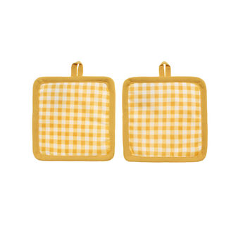 2-pack check print cotton pot holders