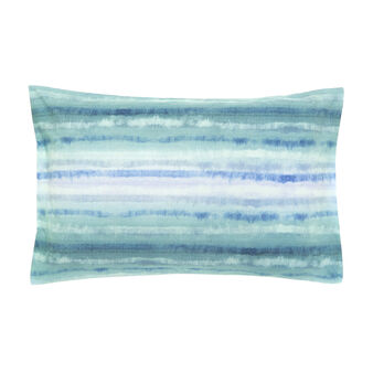 Watercolour cotton percale pillowcase