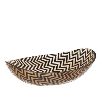 Oval glass dessert bowl