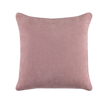 Solid colour velvet cushion