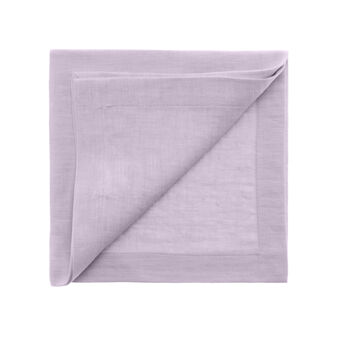 Linen napkin with soft hand