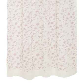 Curtain in patterned linen